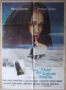 French Lieutenants Woman, Spanish Movie Poster, Meryl Streep, Jeremy Irons, '81